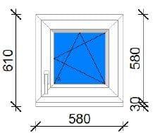 60x60 műanyag ablak ára