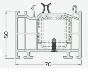acél merevített toktoldó műanyag ablakhoz